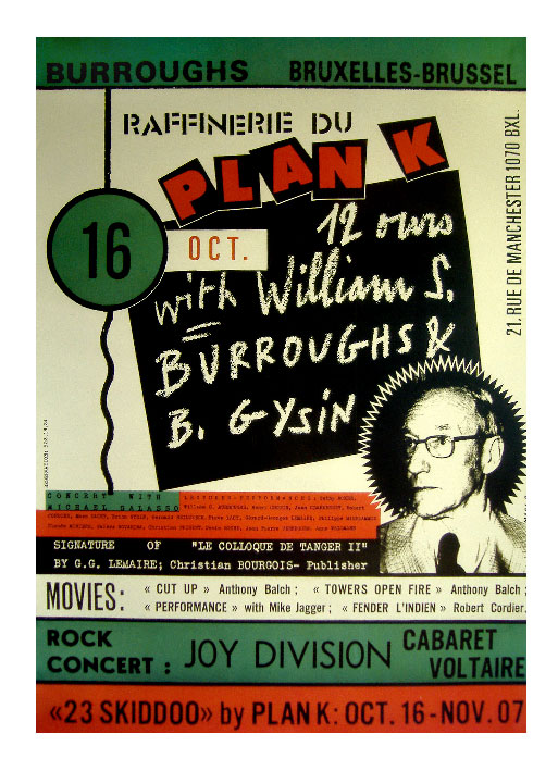 Plan K Brussels 16 October 1979 Poster